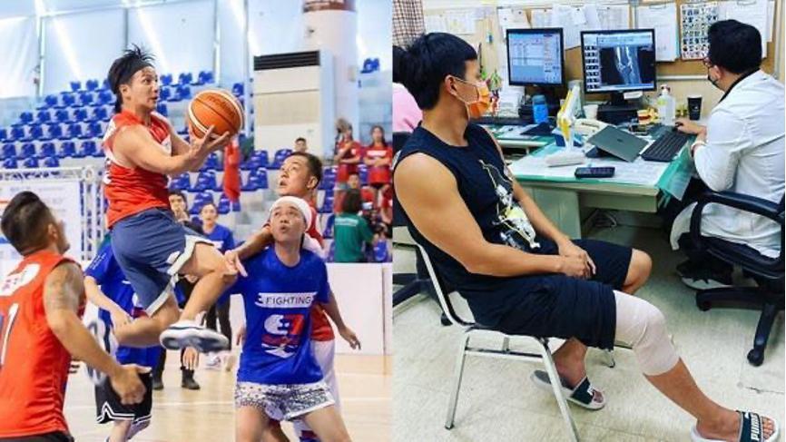 小煜前陣子參加《全明星運動會》,因為打籃球太拚腳受傷而暫時「退役」,希望以輕鬆互動的方式來播報球評。(小煜提供)