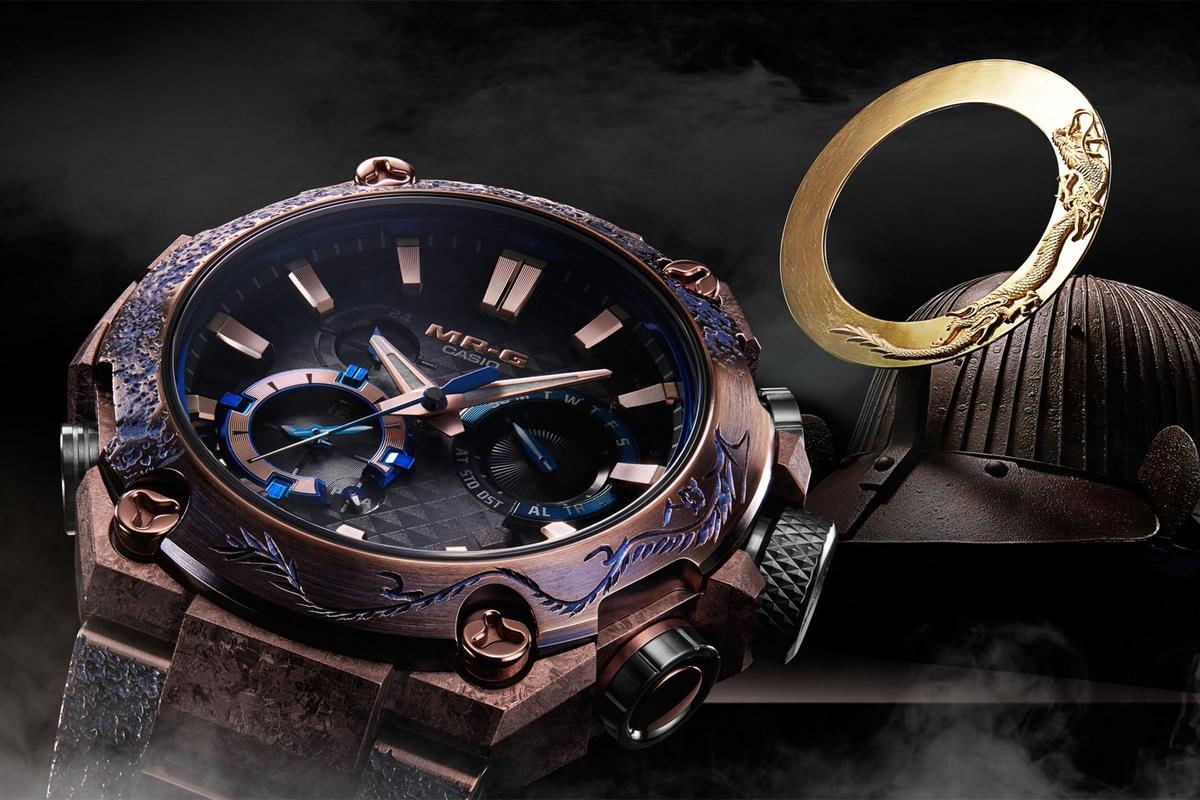 目前最頂級的MT-G系列錶款:MRG-B2000SH 衝擊丸,全球限量400只,定價NT$230,000。