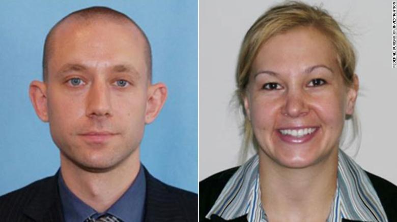 FBI幹員艾爾芬(左)與史瓦辛柏格(右)在查緝兒童性犯罪時不幸殉職,(翻攝自CNN)