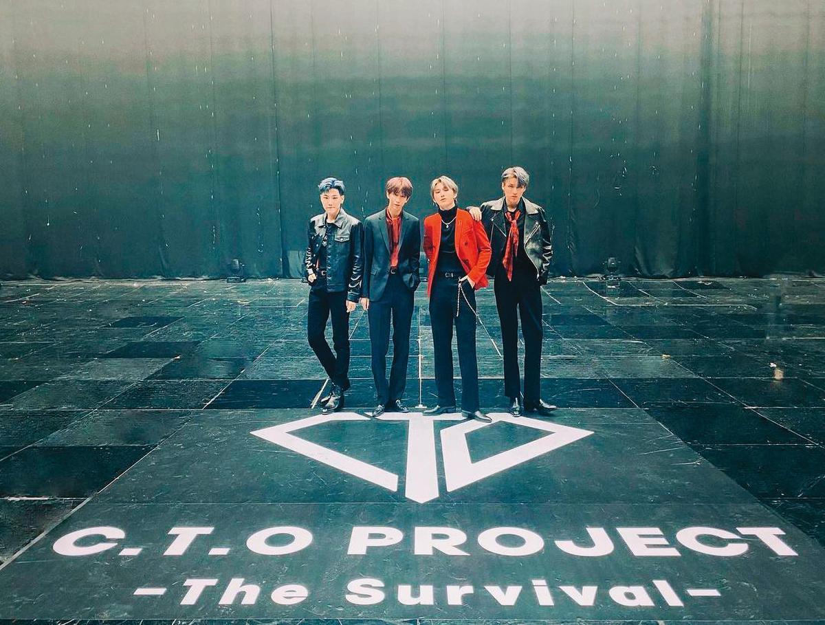 C.T.O以為《C.T.O Project : The Survival》能讓他們在韓國開心玩,沒想到是彼此競賽拚排名。(翻攝自C.T.O IG)