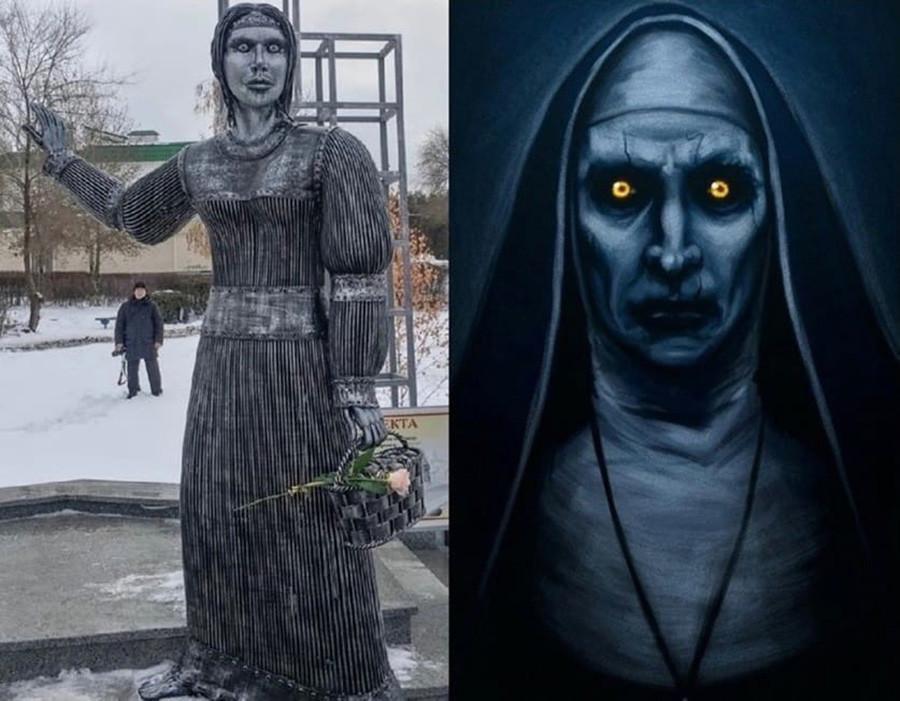有人說像鬼修女。(翻攝Reddit)