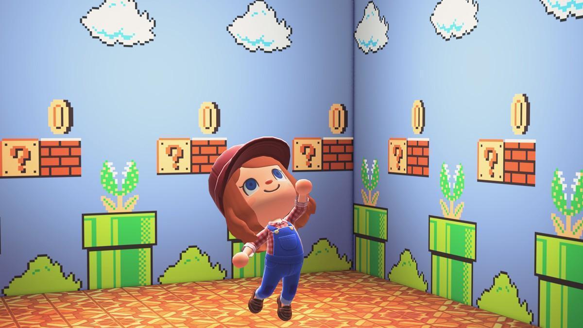 本次更新將送玩家的紀念品為「瑪利歐牆」壁紙!(翻攝自任天堂官網)