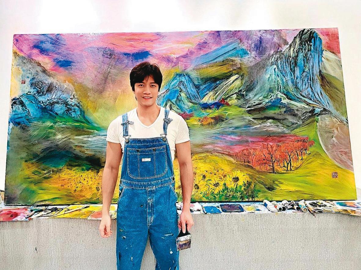 高大帥氣的Alan來自馬來西亞,曾寫詩作畫示愛陳喬恩。(翻攝自Alan IG)