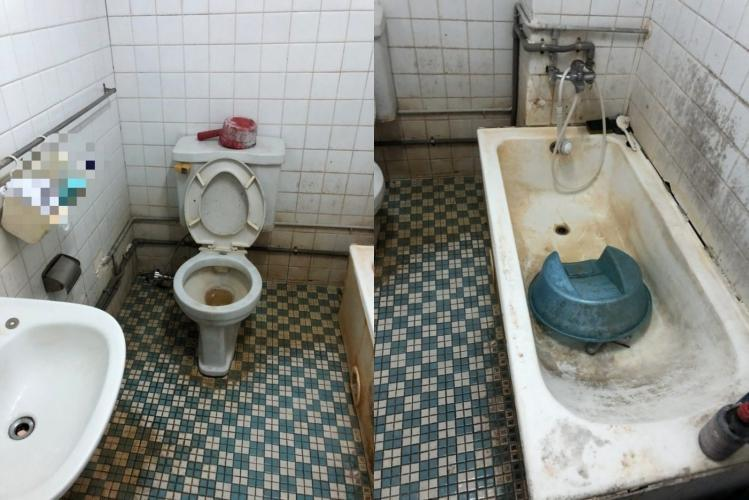 許多網友在看到這間又髒又小的宿舍後,紛紛表示不敢入住。(翻攝自Dcard)