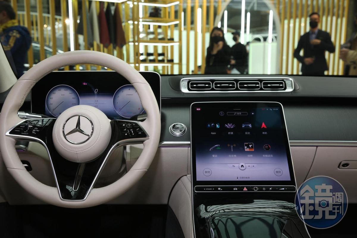 台灣賓士發表大改款的S系列豪華轎車,還沒上市就接單300張。