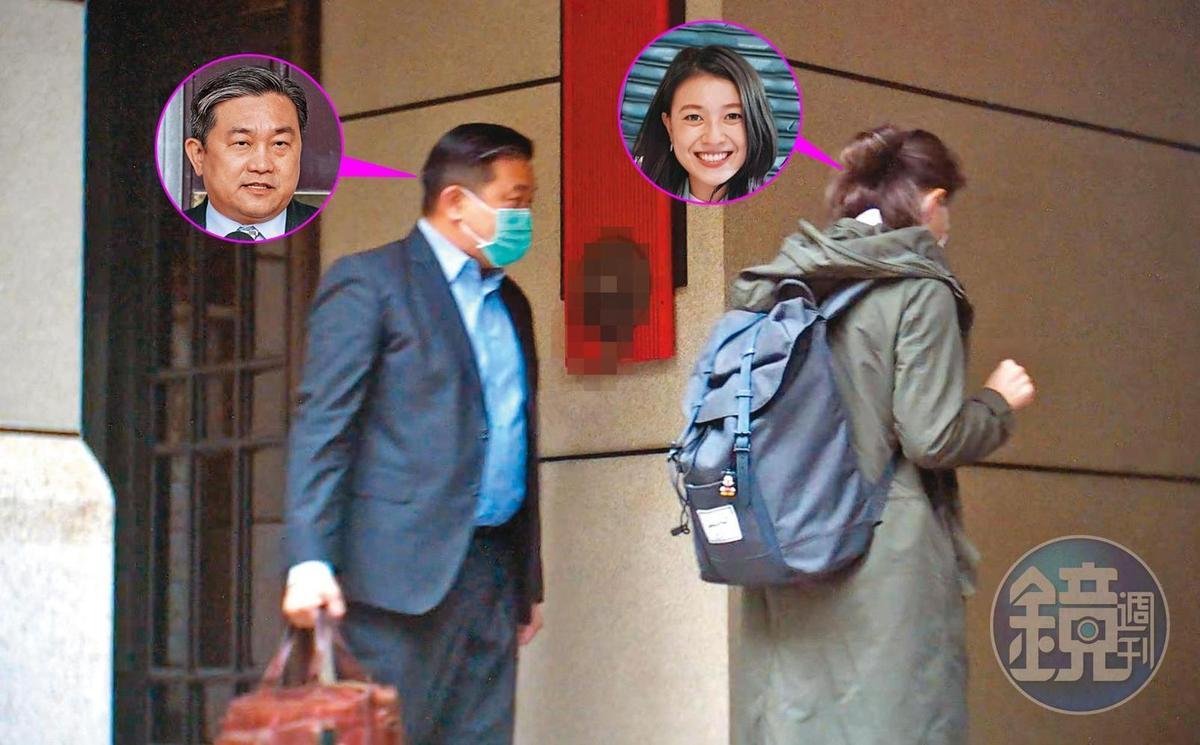 2020年12月7日上午7:44前往車庫。王定宇頻繁留宿顏若芳在台北的住處儼若同居,去年12月7日一早二人還一同前往車庫取車。