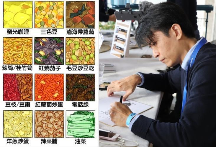 漫畫家葉明軒在臉書分享12種難吃的便當配菜,引發不少網友共鳴。(翻攝自葉明軒臉書)