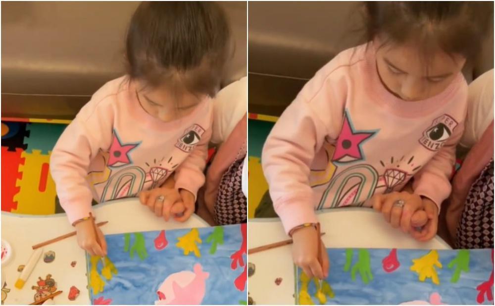 郭富城和方媛的大女兒Chantelle正臉罕見曝光。(翻攝自方媛IG)