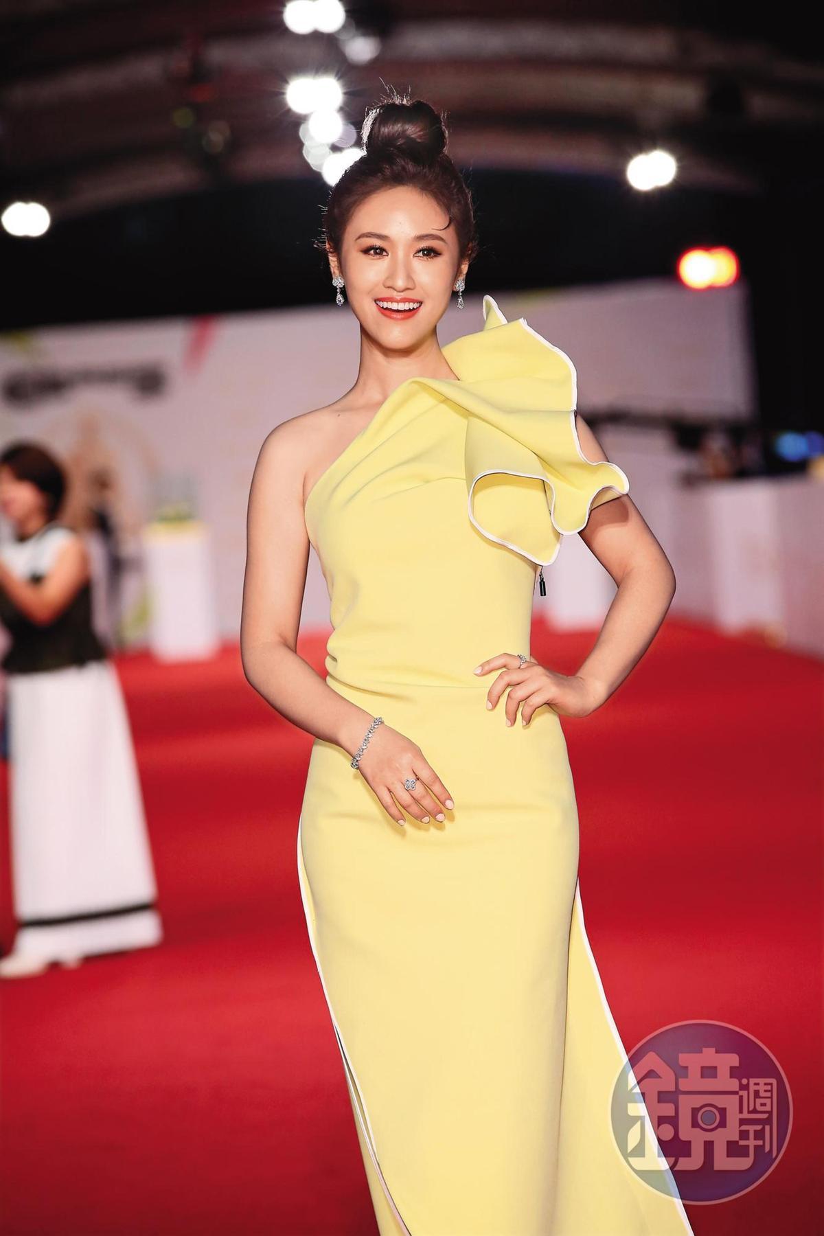 吳姍儒去年工作滿檔,並受邀出席第55屆電視金鐘獎。