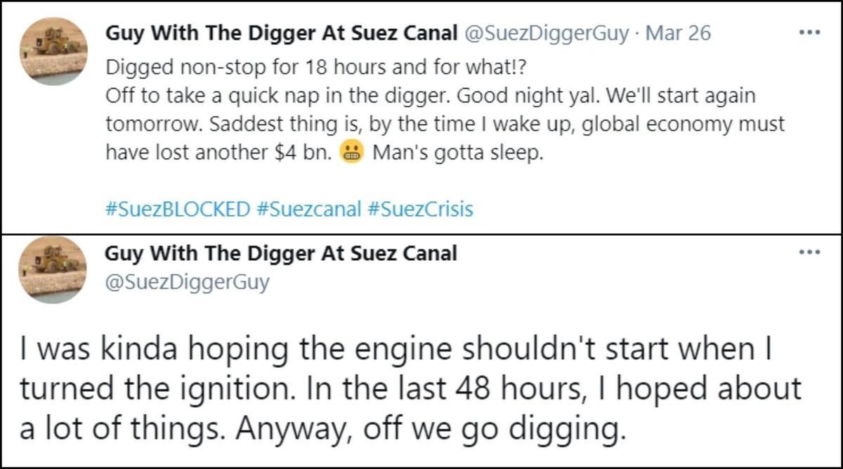 1.「連續挖了18小時,我真的得瞇一下,晚安啦,我們明天再繼續。難過的是,等我醒來的時候,全球的經濟又要燒掉40億美金了。但人總是要睡的。」 2.「其實我有點希望當我按下開關時引擎發不動呢。在這48小時裡我祈禱過好多事情。不管怎樣,繼續挖吧。」