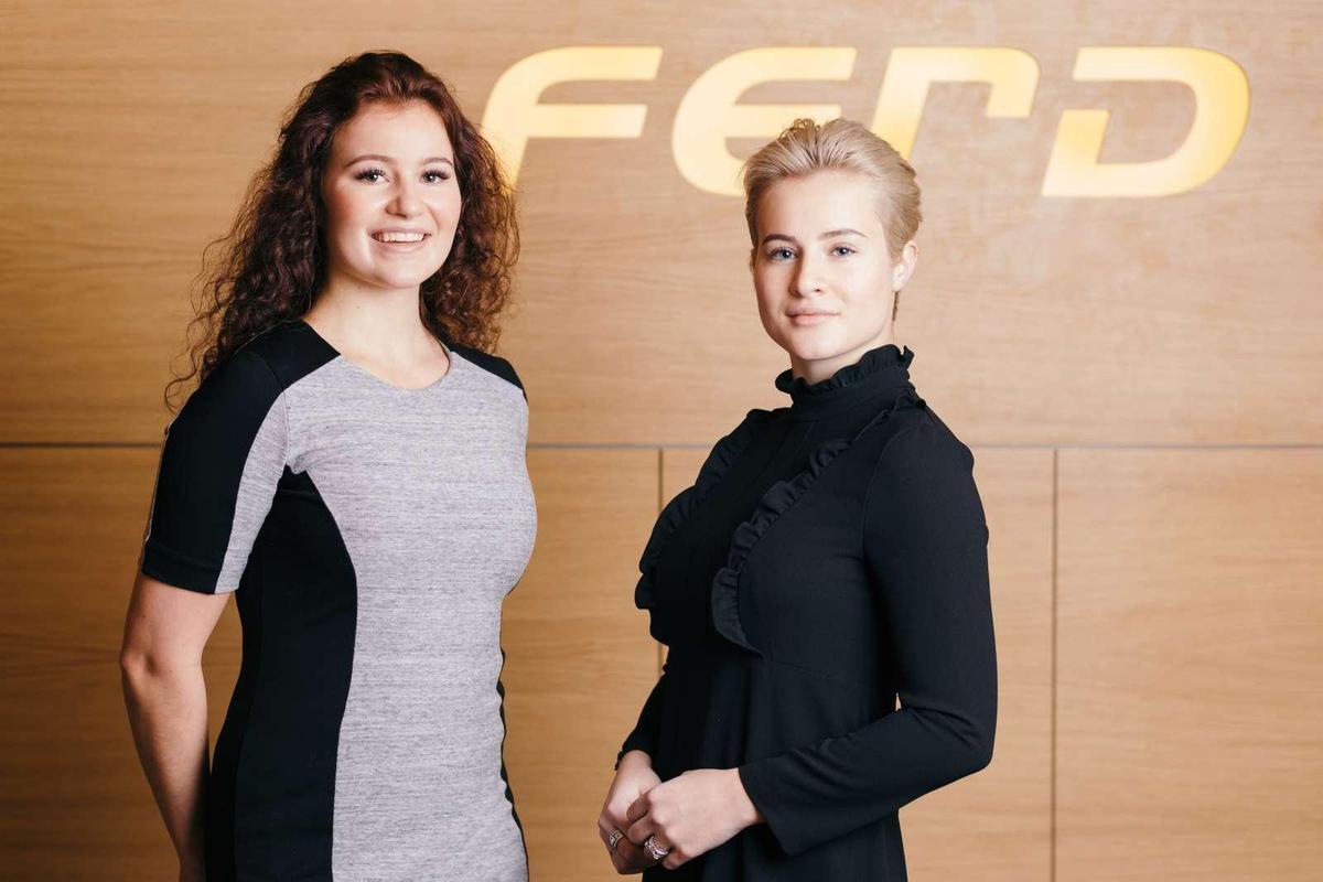 挪威的安德森姊妹亞莉珊德拉(左)和凱瑟琳娜是最年輕的女性富豪。(翻攝Ferd網站)
