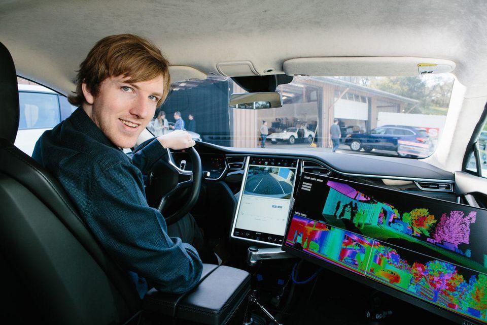 奧斯汀羅素白手起家,創立無人車新創Luminar。(翻攝Money.com)