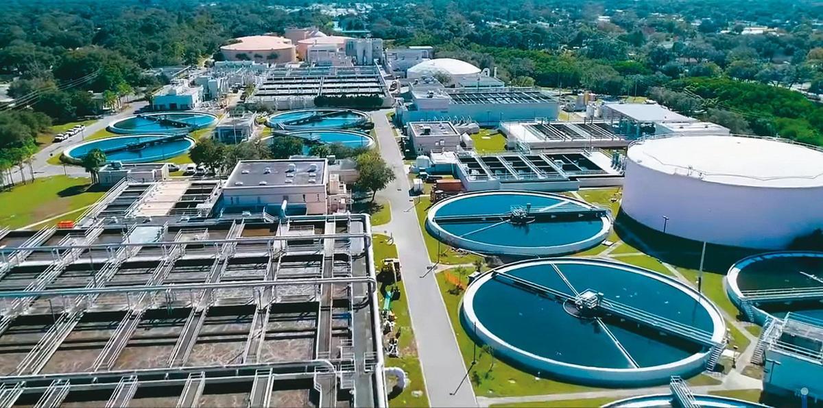 目前台積電進行包括日常用水及廠務端節水措施,平均每滴水使用3.5次。(翻攝台積電愛行動臉書)