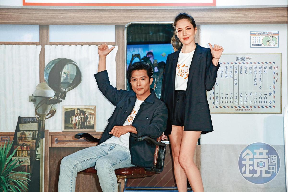 票房破億,許瑋甯除了演技受肯定,搭檔邱澤(左)也產生了新的火花。