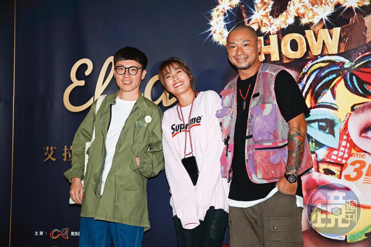 去年11月金剛(右)與小嫻(中)首度在公開場合合體,欣賞陳嘉樺(Ella)的首場「艾拉秀」。