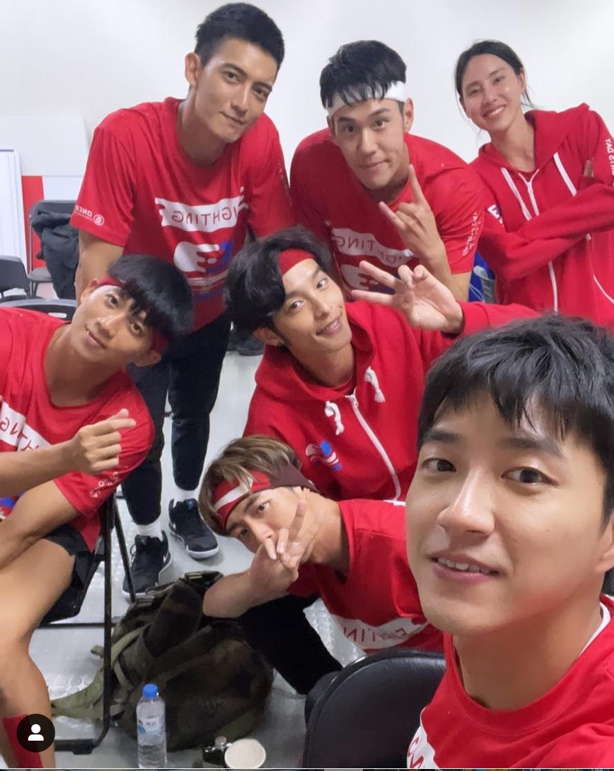 《全明星運動會》第二季開播以來,同為紅隊的何孟遠(左)與江宏傑(右)八卦話題不斷。(翻攝自何孟遠IG)