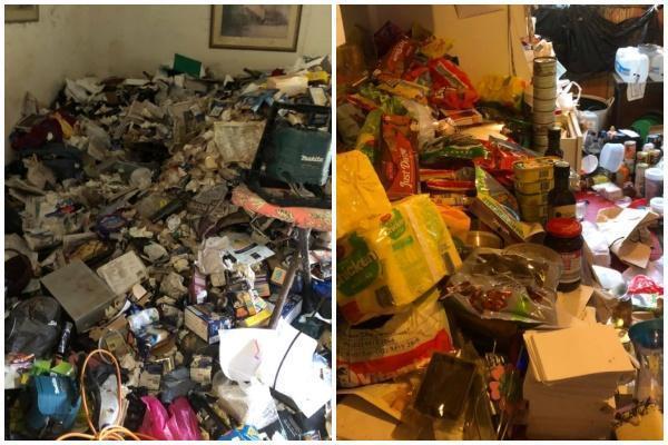 「囤積症」會嚴重影響日常生活,並進行過度性收購或收集物件(翻攝自「Hoarder Cleanup」臉書)