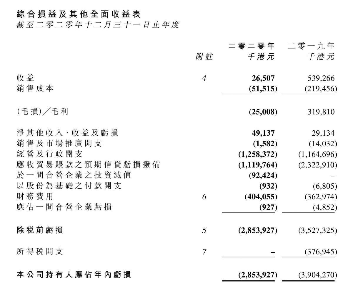 「博華太平洋」去年的財報揭露公司虧損嚴重。(翻攝自EquityNet官網)