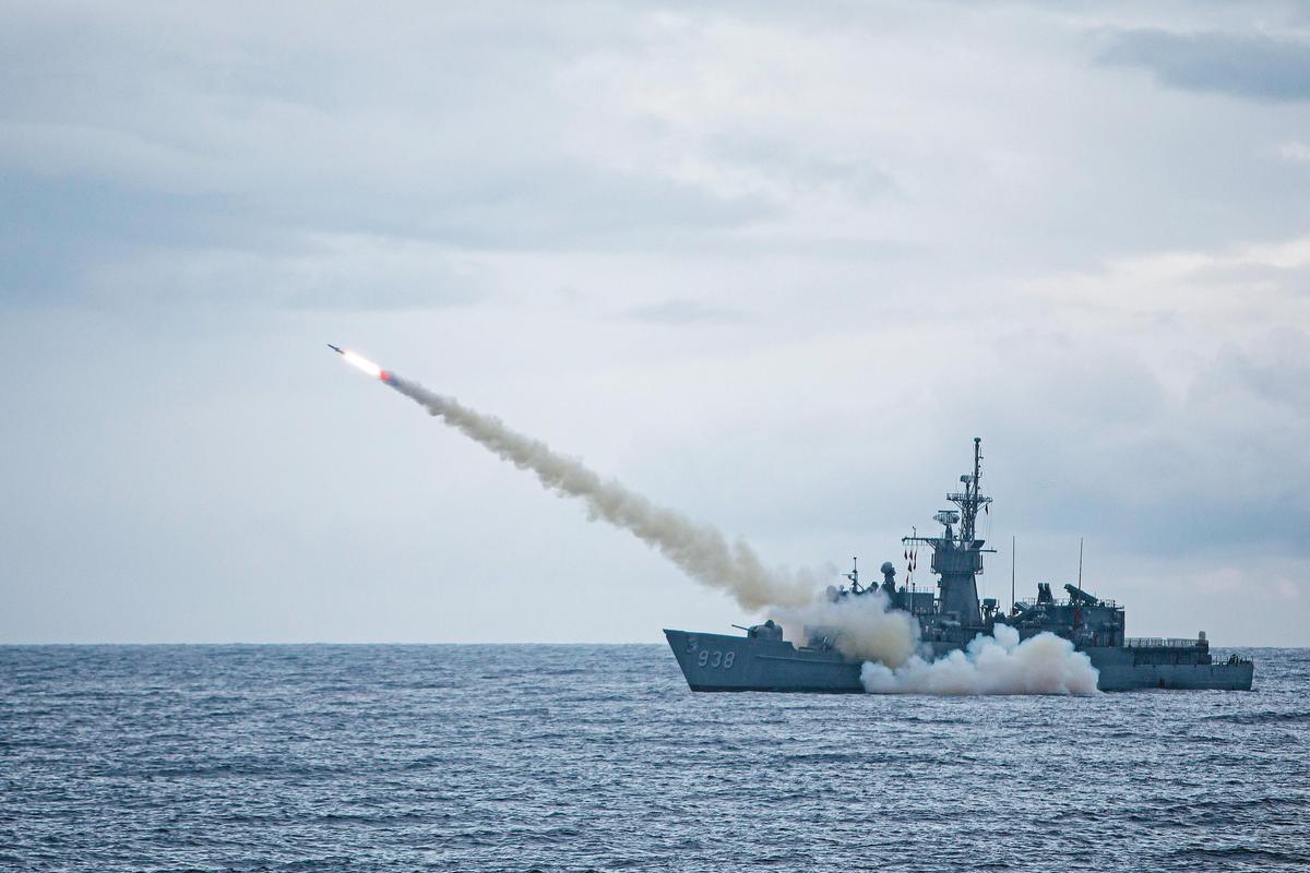 海軍船艦的飛彈防禦能力,也是此次兵推中的重要戰力。(國防部提供)