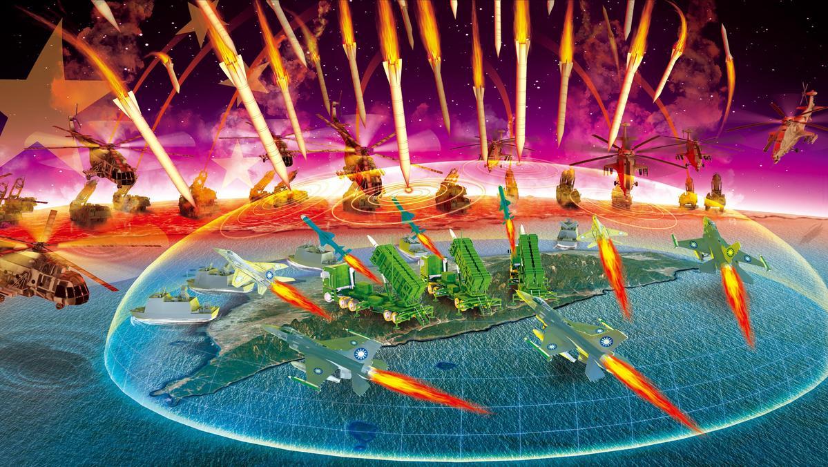 國防部日前進行漢光兵推,結果在共軍千枚飛彈威脅下,國軍仍成功守下台灣。(示意畫面)