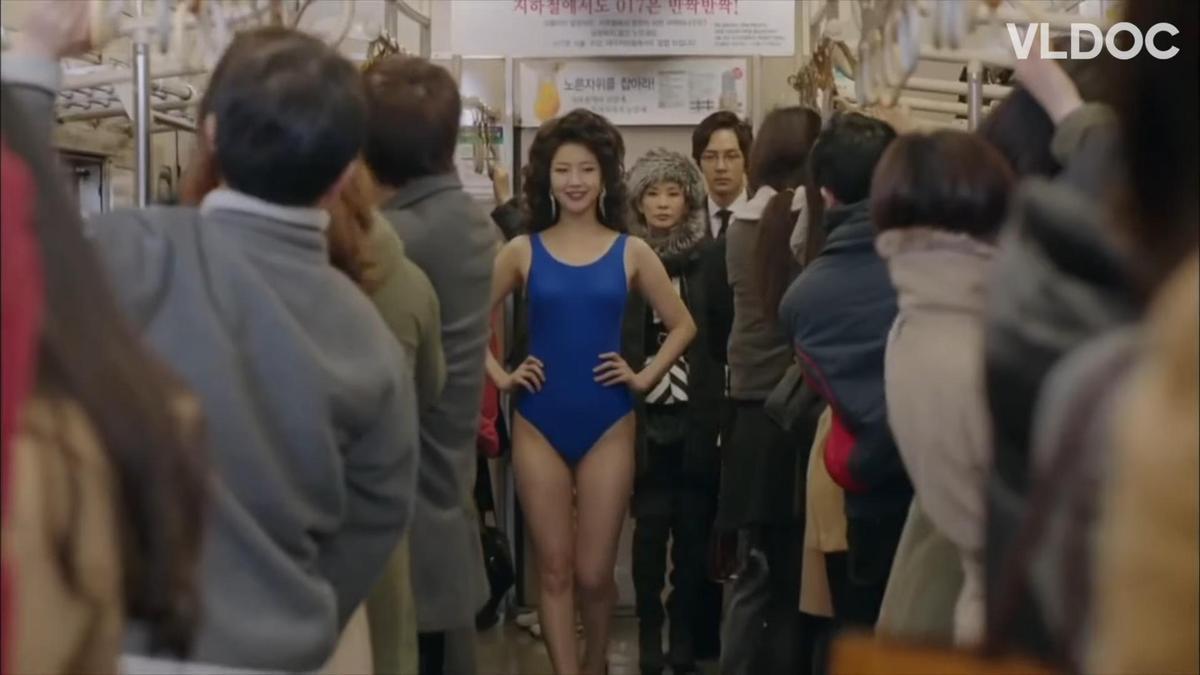 徐海元(中)在韓劇《韓國小姐》原本只是客串演出,但表演獲得肯定,一路演到結局。(翻攝自VLDOC畫面)