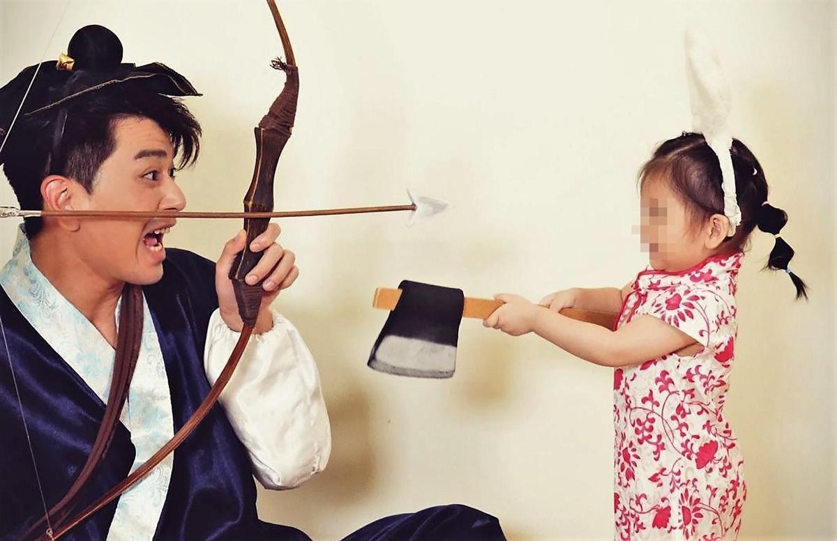 潘逸安坦言對於活潑的女兒相當沒轍。(艾迪昇傳播提供)