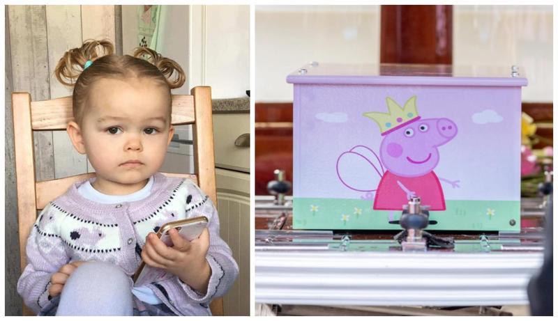 2歲的露西娜在火災中喪生,家人舉辦佩佩豬告別式送別。(翻攝Donna Broadley臉書、太陽報)